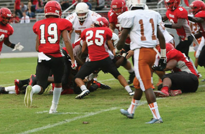 East Bay turned the ball over five times in the loss to Lennard.