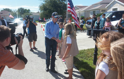Florida Gov. Rick Scott was on hand for the ceremony and praised the service Sgt. Tui and others have given. Kevin Brady photo.