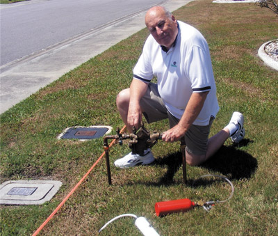 Dave Brown of Sun City Center led the charge to revamp the backflow valve regulations. He convinced the state and all related departments to change the way the backflow valve operates. Penny Fletcher photo.