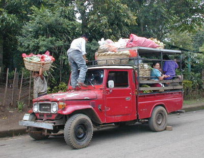 People loaded up what they could after the rain stopped and the area dried out.