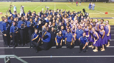 The Blue Coat Regiment after their victory at the Chamberlain Invitational on Oct. 18.