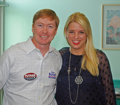 Both Putnam and Bondi, pictured above, have been tabbed by many for higher office in the GOP. Hillsborough County Commissioner Al Higginbotham also spoke at the event. Larry Brigant photos.