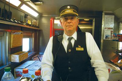 Volunteers at the Florida Railroad Museum dress in traditional railroad uniforms to make the experience as authentic as possible.
