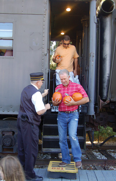 A trip on the Pumpkin Patch Express yielded a pumpkin for everyone. Chere Simmons photo.