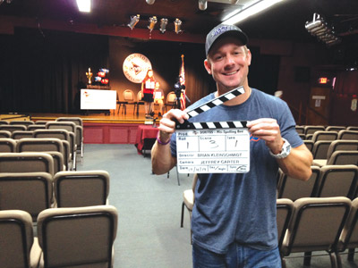 "Brian Kleinschmidt said they taped for eight hours to get the 30-second commercial to enter in the Doritos ""Crash the Super Bowl"" contest. Of the 4,900 entrants, Kleinschmidt, of Riverview, is in the final 29 now being graded by viewers online."