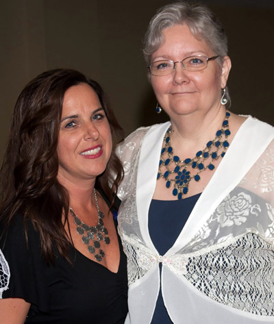 Anne Madden with SouthShore Chamber of Commerce Executive Director Melanie Morrison, the  organizer of the event. Pamela Vasquez photo.