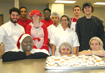 Students in the South County Career Center's Culinary Arts Program  look forward to this holiday tradition of serving treats to the pre-K students.