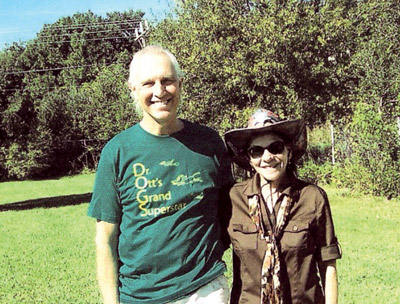 Andrea Rocca serves on the board of Ott's Off-Leash Dog Sanctuary with Dr. Hal Ott, above.