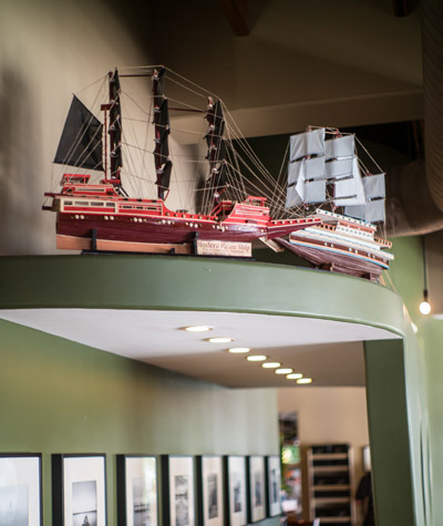 Of Wolf's eight ships, only two are currently on view for the public: at Circle's Restaurant in Apollo Beach.