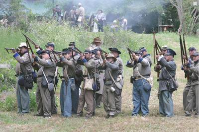 Civil War reenactments are plentiful on Georgia's Antebellum Trail.