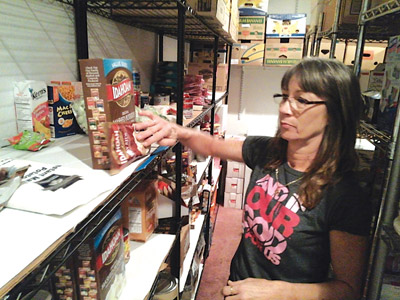 Donna Witsell manages Life Church's Pantry. Kevin Brady photo.