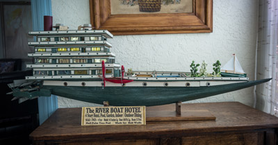 """""""People tell me that boat wouldn't float. But the hotel part has a lot of empty space — and the swimming pool and the garden on the deck balance it out,"""" Wolf said. In building it, even if with a hull from a palm tree husk, it is built with the eye of an engineer and the heart of a man of the world."""