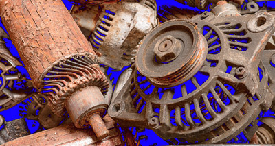 """Cheryl Levin won a gold for """"Scrap Auto Parts"""" in the Creative Digital division."""