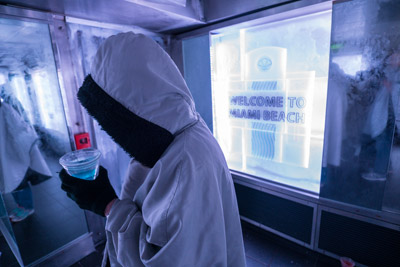 Perhaps the only way to experience South Beach at 20 degrees and in ice is in the SVEDKA/Inniskillin Ice Bar aboard the Norwegian Getaway.