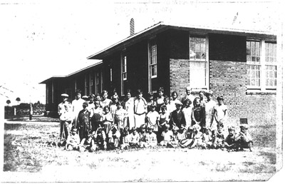 This single photo from 1926 acted as a guide for renovation of the Gardenville School's restoration and is the only indicator of the age of the building. Photo courtesy of Pete and Jeanie Johnson.