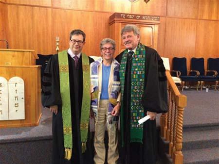 OBSERVER FILE PHOTO Rev. Mark Salmon, Rabbi Carla Freedman and Rev. Timothy Shirley at last year's Sun City Center Community Interfaith Thanksgiving Service.