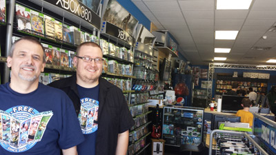 Troy Taylor and his son, Daniel, relaunched Game On Video Games & More earlier this year. The store features not only video games and consoles but a large selection of comic books. Kevin Brady photo.