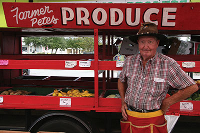 Farmer Pete's Produce was one of the most popular booths at the Apollo Beach Outdoor Market Nov. 8. Lisa Stark photos.