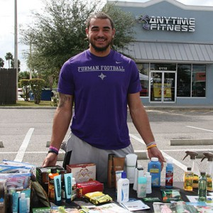 Shawn Boone, a recent college graduate, uses his marketing skills to represent natural home and personal care products.