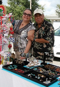 Alicia Gonzales, of Creations by Rali, with her husband.