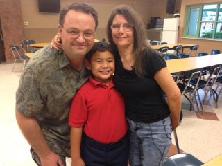 Chris and Debbie Tilley are hoping their son's recipe lands him among the top five winners from 25 finalists. That would not only mean $30,000 for a new kitchen at Ben's school but $15,000 for the family. Photos courtesy of Debbie Tilley.