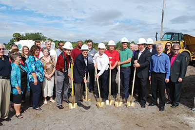 Members of the community stood side-by-side with executives, business owners and dignitaries for the groundbreaking of the Riverview 14 complex in Gibsonton. The theater, dining and shopping center is scheduled to open in summer 2016. Chere Simmons photos.
