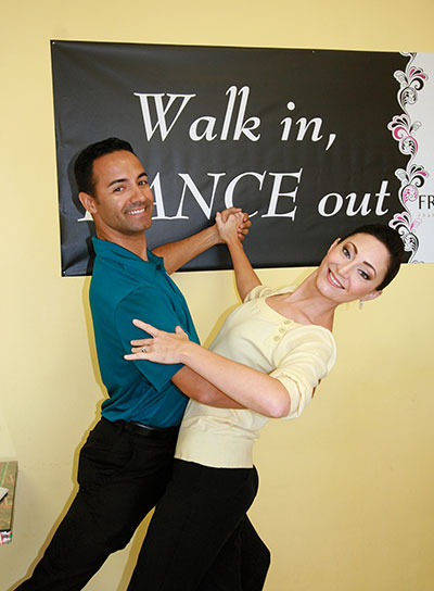 Dance studio owners David and Kelle Chancellor offer the joy of dance to the community this holiday season. Lisa Stark photo.