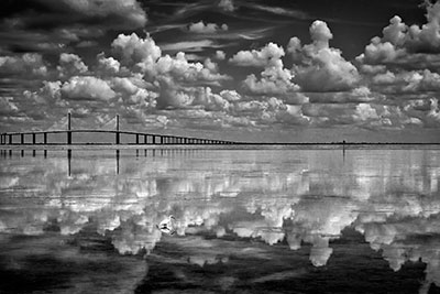 """Reflection"" by Carol Feldhauser took first place (level 2) in monochrome digital."