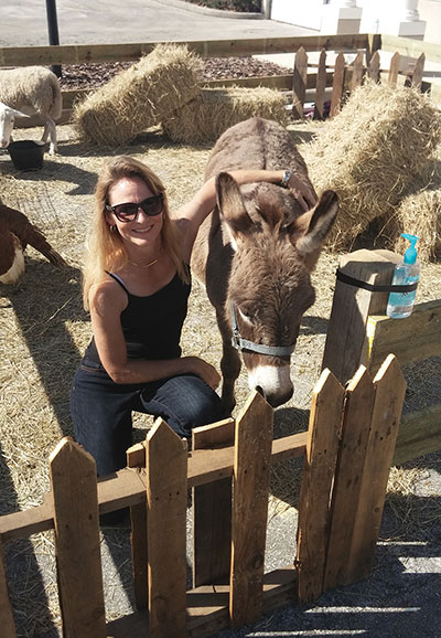 Paula Geraci brought animals from her farm in Pasco County to Trader Tots for the event.