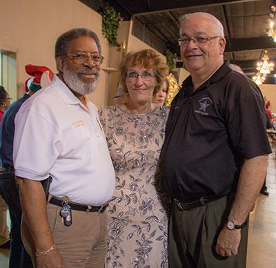 HCSO Riverview Community Service Officer Barbara Jones with Chaplain Rev. R. Davis of the Tampa Police Department and HCSO Chaplain John Garbreana.
