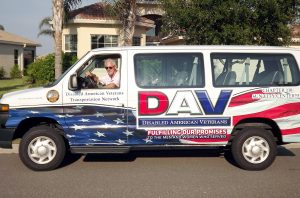 DAV CHAPTER 110 PHOTO The DAV office in Sun City Center offers free van transportation, by appointment, for disabled veterans to the James A. Haley Veterans Hospital.