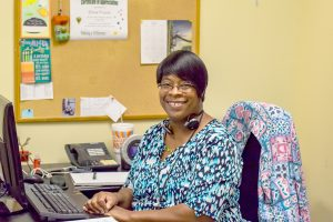 Elaine Frazier provides administrative support to the Safe Children's Coalition staff. ANDREA SHAY PHOTOS