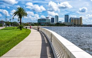 Claims have been made that the 4.5 mile walk along Tampa's Bayshore Boulevard is the longest continous sidewalk in the world. What is certain is that it is among the most beautiful walks in the world. And while Tampa is making strides to become a walkable city, it can still be a tricky proposition to cross traffic to get to it. MITCH TRAPHAGEN PHOTOS