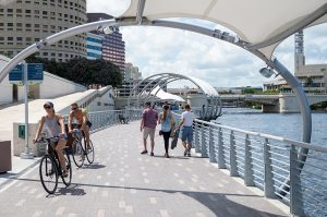 Tampa's Riverwalk is the realization of a dream 40 years in the making. At 2.6 miles, connecting parks, museums and restaurants, it is a public celebration of the city's waterfront.