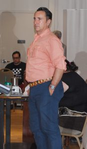 Artistic director Rick Kerby directs a rehearsal of the Manatee Players' production of 42nd Street.