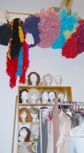A large selection of wigs and boas are available for any theater production the students of Manatee School for the Arts may produce.