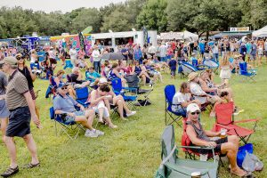 Palmetto's Grilled Cheese Festival attracted hundreds of visitors to the seven-hour event on Saturday.