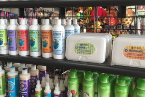 Dog Gone Holistic carries mostly American-made pet toys; natural treats and chews; shampoos and flea-control products; a large line of supplements; and a seemingly endless array of accessories like beds, harnesses, leashes, food bowls and doormats.
