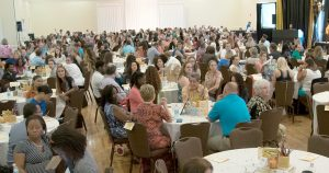 Almost 300 teachers and administrators from 29 Riverview area schools gathered at The Regent on Aug. 5 for free breakfast, loads of gifts and a special program hosted by the Greater Riverview Chamber of Commerce during its annual Teaching to Excellence Breakfast.