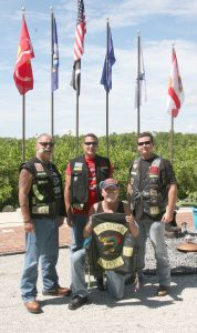 """LISA STARK PHOTOS The Nam Knights of Thunder Bay, from left, Joe """"Stache"""" Mohr, Ron """"Magnum"""" Perry, Ray Paw and Travis Wright."""
