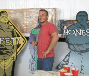 LISA STARK PHOTO Muralist Michael Parker, president of SAC, maintains his active art and teaching studio in Ruskin.