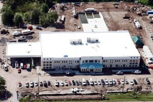 EDGE COMMUNICATIONS PHOTO This is an aerial view of the SouthShore Charter Academy, a 66,920-square-foot facility built in Riverview by Ryan Companies. The school sits on a 10-acre parcel of land at 11667 Big Bend Road, Riverview.