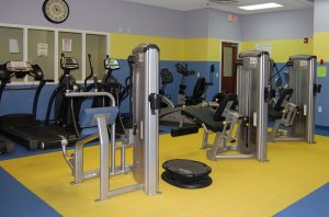 Members of the Enrichment Center program have use of the spacious Fitness Center at Renaissance on 9th for $10 a month.