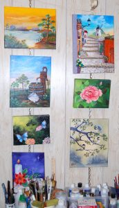 Mara Trumbo's home in Colony Cove is filled with her artwork.