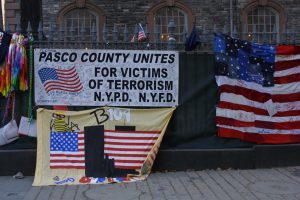 At what became known as Ground Zero in New York City, people from Pasco County showed their support, as did millions of Americans.