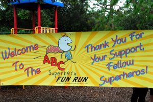 LOIS KINDLE PHOTO Participation in the ABC Superhero Fun Run is $15 per person or $25 per family, regardless of size, and includes one lunch per walker/runner and a beverage. This year's sponsors include the East Bay High School Boosters Club, SouthShore Chamber of Commerce, South Shore Signs, Covington Park, Kids 'R' Kids Southshore, M&M Printing and Tiki Tea Inc.