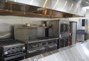 Two chefs will prepare meals for the students, staff and volunteers at Southeastern Guide Dogs in this new stainless-steel commercial kitchen in the Barpal–Hirst Student Center.