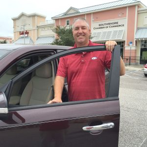 """LOIS KINDLE PHOTO Steve """"Brownie"""" Brown, a resident of Apollo Beach, drives for Uber, a ride-share service where he uses his own car, sets his own schedule and earns money taking people where they want to go."""