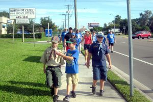 School-age children, like these Cub Scouts, are invited to participate in the 2016 Friends of the Poor Walk, Sept. 24 in Ruskin.