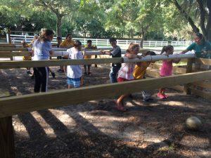 Human foosball at Camp Cristina summer camp.